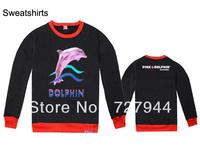 Free shipping cheap Pink dolphin Sweatshirts Men's crewneck sweatshirts hiphop hoodies sweater mix order
