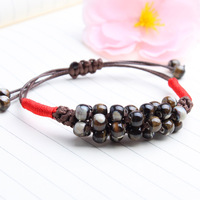 Jingdezhen ceramic jewelry accessories color glaze porcelain beads bracelet