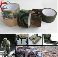 Free shipping 10M / Roll army insulated cotton adhesive tape camo camouflage fabric tape great for hunting air rilfes airsoft