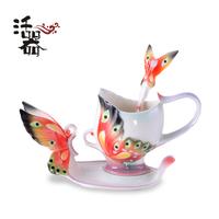 Coffee cup porcelain enamel fashion quality gift bone china romantic gift girlfriend gifts