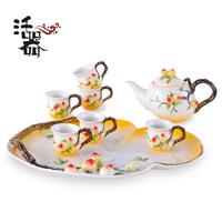 Porcelain enamel tea set ceramic set gift black tea teapot set teaberries gift box