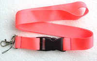 Hot 20 pcs pink Pure color Lanyard Neck Strap Lanyard WHOLESALE Free shipping