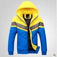 Male wadded jacket beautiful beads wadded jacket outerwear new arrival thickening thermal cotton-padded jacket