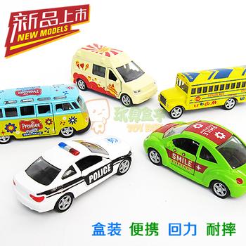 coches de juguete Your good friend mini alloy car bus school bus police car off-road WARRIOR toy car boxing combination set