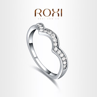 ROXI  Exquisite Neutral Rings platinum plated with AAA zircon,fashion Environmental Micro-Inserted Jewelry,101034354