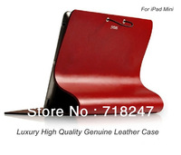 New Arrival High Quality Cow Leather Arc Case For ipad Mini Brand Luxury Genuine Leather Cover For Tablet 7.9 inch Free Shipping