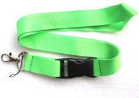 Hot 20 pcs green Pure color Lanyard Neck Strap Lanyard WHOLESALE Free shipping