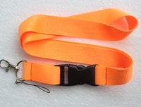 Hot 20 pcs orange Pure color Lanyard Neck Strap Lanyard WHOLESALE Free shipping