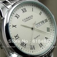 2013 New Fashion Luxury Brand Curren Men Silver Full Steel Quartz Vintage Sports Wrist Watch With Calendar Items