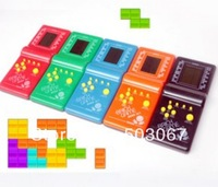 Free shipping Electronic toys Tetris game consoles Handheld animation game Children's educational toys