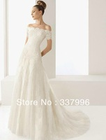 Wedding Dress 2013 New Korean Version of Sweet Wedding Brides End Wedding Word Shoulder Trailing Wedding