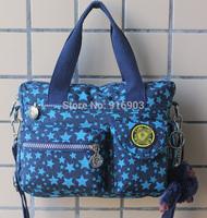 Unisex Colorful Sport Messenger Handbags Monkey Tassel,Fashion Printing Washed Nylon Outdoor Tote Travelling Shoulder Bags,SJ049
