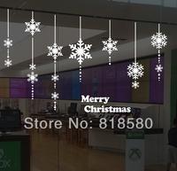 Free Shipping Home Decor Christmas Snowflake Charm Window Vinyl Wall Art Stickers Wall Decals(76 x 60cm/piece)