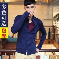 2013 autumn men's clothing the trend of casual male sweatshirt slim stand collar cardigan thin sweatshirt outerwear