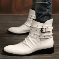 2013 fashion high boots male casual shoes the trend of commercial leather thermal men's martin boots