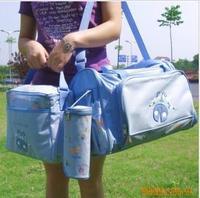 Car embroidered size nappy bag set bottle sets