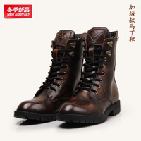 2013 lovers genuine leather skull rivet martin boots fashion motorcycle boots plus velvet boots