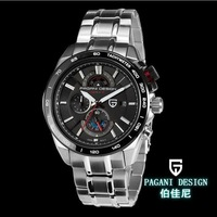Pagani Design brand steel watch quartz movement waterproof luminous watches men fashion big dial men's watch (PS-3302)