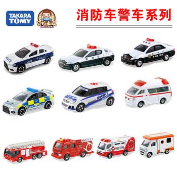Dume tomy card alloy car models police car fire truck ambulance toy car model