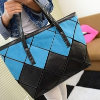 Bags 2013 bag black-and-white women's colorant match women's shoulder bag casual handbag big bag shopping bag