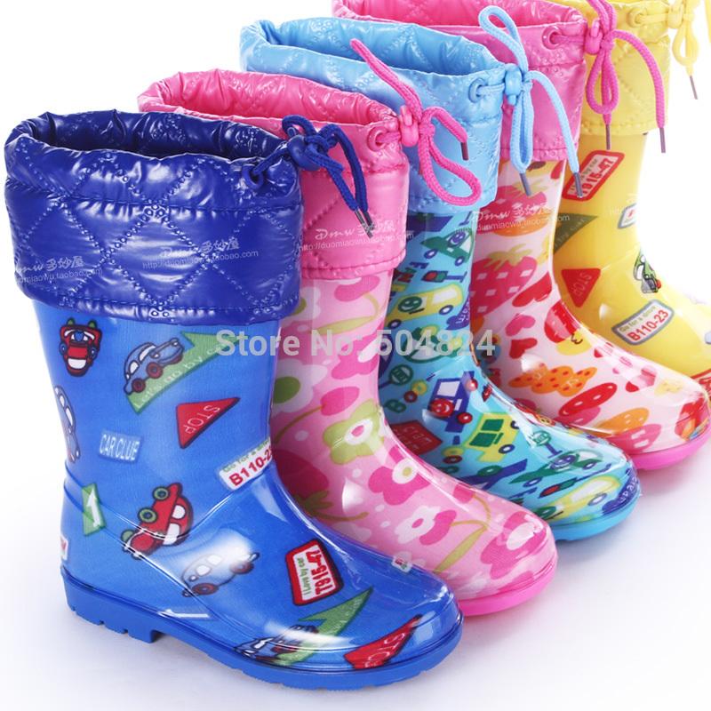 Neue kommen Kind regen schneeschuhe jungen mädchen kinder Wasser- Nachweis slip- beständig samt-liner gummistiefel baby kinder schuhe