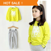 Girls Hoody Jacket+Pants Long-Sleeve Set Hot sale Retail 2013 Atumun New Children Clothing Kids Baby Girl Sport Suit COUT130674