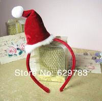 10pieces/lot festival decorations children&adult  hair accessories  christmas hat  Headwear
