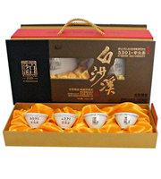 "Hunan Baishaxi 5301 Bud-Tea Dark tea( Yajian) , two cans per box, with 4 ""Baishaxi"" tea cups BSX011"