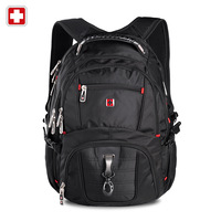 Men's swisswin Laptop backpack large double-shoulder travel & hiking backpack women sw8112 school notebook waterproof backpack