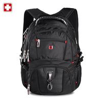 Men's swisswin Laptop backpack large double-shoulder travel & hiking backpack women sw8112 school notebook waterproof backpack