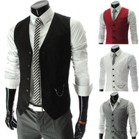 2013 male pocket zipper decoration slim business casual vest 8631 - 50