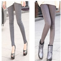 Women's legging stripe ankle length legging skinny pants boot cut jeans