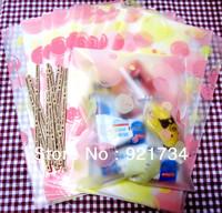 50 pieces long size pink bubbles cute glue bag 12cm*20cm cookies bag baking cake bag