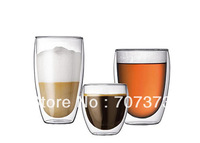 450ml 2pcs/lot Europe Style Double Wall Glassv Coffee Cup Teacup 450ml