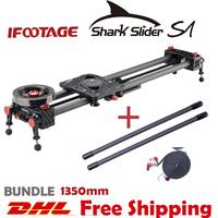 IFOOTAGE Shark Slider S1 BUNDLE 1350mm Carbon Fiber Video Slider Kit For DSLR or Camcorder