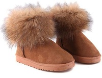 so cute furry winter boots women's cotton-padded shoes