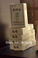 Free shipping(4 pcs/lot) Hunan Anhua Baishaxi Dark tea Black brick tea(Hei zhuan tea) n/w 0.4kg BSX027-2
