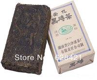 Free shipping(1pcs/lot) Hunan Anhua Baishaxi Dark tea Black brick tea(Hei zhuan tea) n/w 0.4kg BSX027