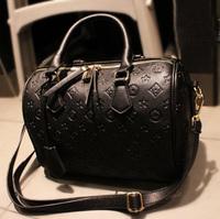 Vintage embossed BOSS black handbag fashion handbag : bucket jm-062