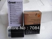 New EN-EL15 ENEL15 replacement digital camera Battery pack lithium battery for Nikon D7000 D800 E MB-D12 MB-D11 V1,free shipping