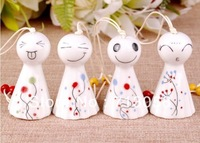 FREE SHIPPING 20pcs high quality traditional mascot china windbell pendant pottery and porcelain type 13