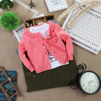 Glutinous rice children's clothing children all-match fashion flower cardigan children's clothing sweater cardigan
