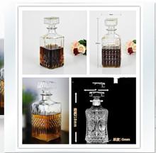 Diamond red wine sobering device glass bottle 1000ml free shipping(China (Mainland))
