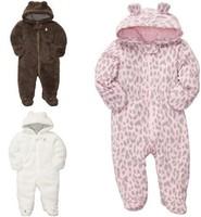 2014 Winter, Carter's Baby Boy Girls 3D Ears Hooded Romper, Lovely Sherpa Baby Bunting, Freeshipping