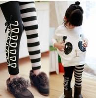 5pcs/lot Lovely new children's clothing 2013 Girls Leggings wholesale Free Shipping