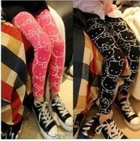 Russian special line 2013 new style cotton baby elastic leggings hello kittys girl's children legging 5pcs/lot