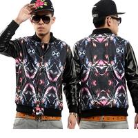 2013 outerwear HARAJUKU baseball uniform jacket galaxy leather clothing lovers