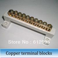 5pcs Copper wiring terminal blocks row Zero Ground 10 bit terminal connector