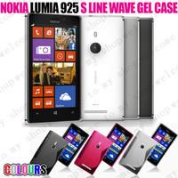 Free shipping!Good quality low price! Soft TPU Gel S line case for Nokia Lumia 925 100pcs case+100pcs pen+100pcs Protective film