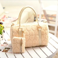 2013  fashion women's handbag fur bag